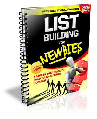 Product picture Brand *NEW* List Building For Newbies 2009 Edition w/ PLR