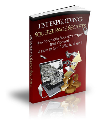 Product picture Brand *NEW* List Exploding Squeeze Page Secrets w/ PLR