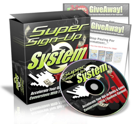 Product picture Brand *NEW* Super Signup System w/ Master Resale Rights